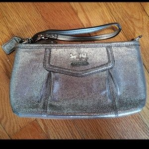 Beatiful soft shimmery leather Coach wristlet